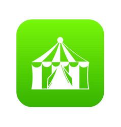Circus tent icon digital green vector
