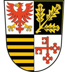 Coat of arms of potsdam-mittelmark in brandenburg vector