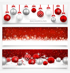 collection christmas banners vector image