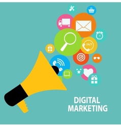 Digital marketing concept for different electronic vector