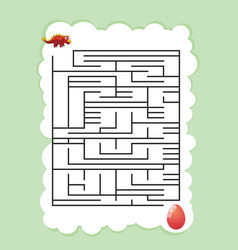 dinosaur mazes for kids maze games worksheet vector image