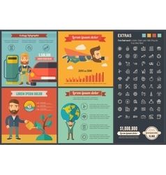 Ecology flat design Infographic Template vector image