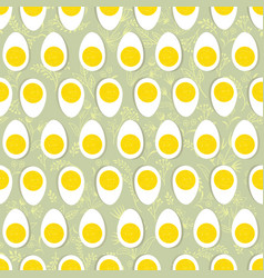 Eggs seamless ornament easter food tile floral vector