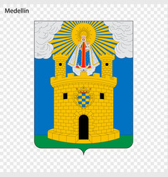 Emblem city of colombia vector