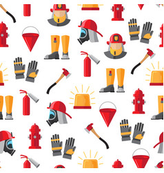 firefighter icons seamless pattern vector image