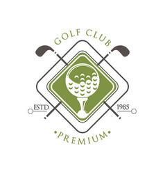 golf club premium logo estd 1985 retro label vector image