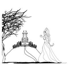 Halloween witch - doodle vector