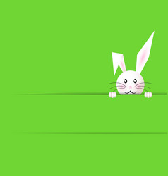 happy easter bunny green background and copy space vector image