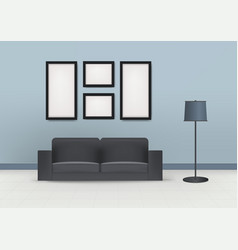 interior design modern room beautiful home vector image