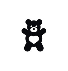 Isolated doll icon teddy element can be vector