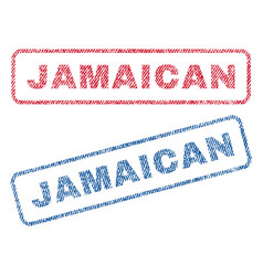 Jamaican textile stamps vector