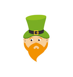 leprechaun comic character icon vector image