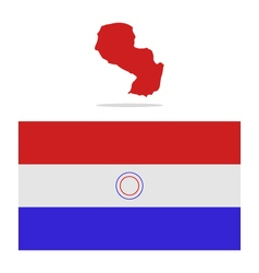 Map paraguay vector