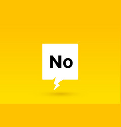 no banner speech bubble poster and sticker vector image