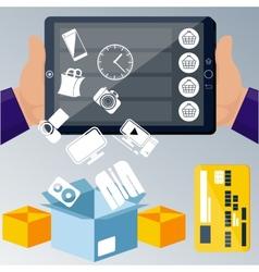 Online ecommerce technology concept internet vector
