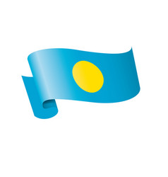 palau flag on a white vector image