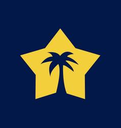 palm star logo vector image
