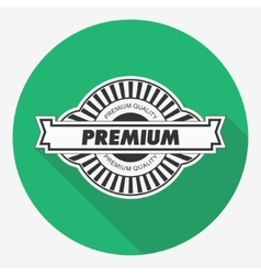Premium quality label Flat vector image