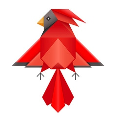 Red Cardinal Geometric Polygonal Icon vector