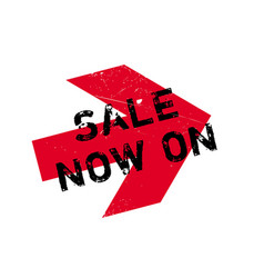 sale now on rubber stamp vector image
