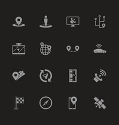 satelite - flat icons vector image
