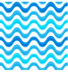 seamless pattern with blue watercolors painted vector image