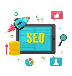Seo online marketing concept vector