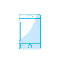 silhouette technology smartphone to communicate vector image