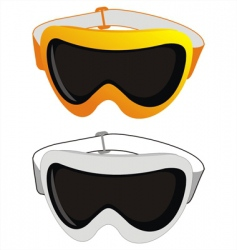 ski glasses vector image