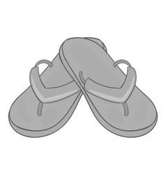 Slates icon gray monochrome style vector