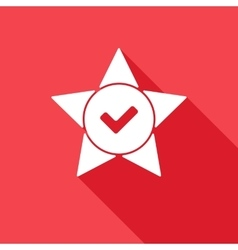 Star tick cross flat vector image