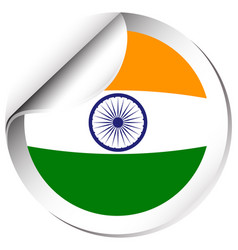 Sticker design for india flag vector