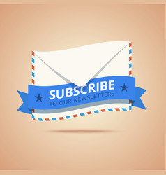 Subscribe to our newsletter vector
