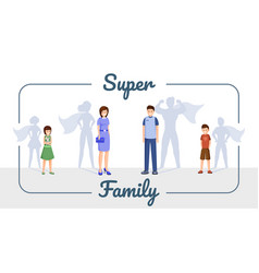 super family banner template smiling vector image