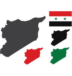syria map with flag vector image
