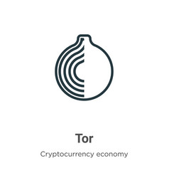 Tor outline icon thin line black tor icon flat vector