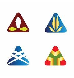 Triangle logo icons set vector image