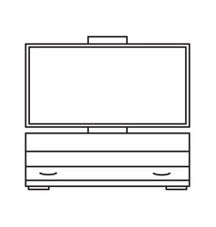 tv stand drawers icon vector image