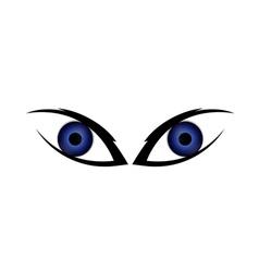 Two human eyes vector image