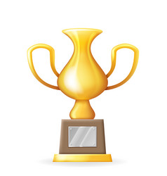 victory award cup prize realistic 3d trophy icons vector image