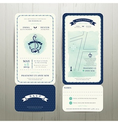 Wedding on the beach watercolour nautical theme vector