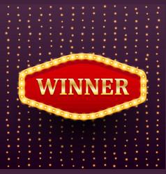 winner luxury retro banner template vector image
