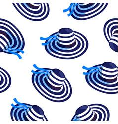 Women hat beach resort seamless pattern design vector