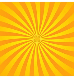 Yellow orange rays poster vector image