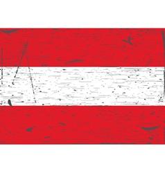 Austria flag grunge vector image vector image