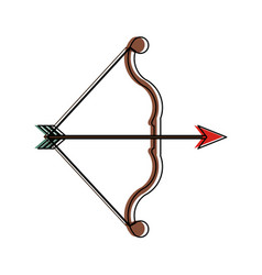 bow and arrow archery icon image vector image