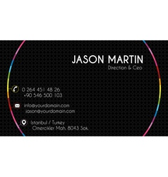 Creative colorful business card vector image vector image