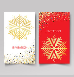 design template invitationnew year and christmas vector image vector image