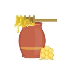 Honey Jar Baking Process And Kitchen Equipment vector image vector image