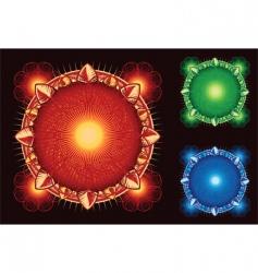 sci-fi elements vector image vector image
